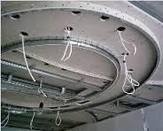 установка светильников в многоярусный потолок