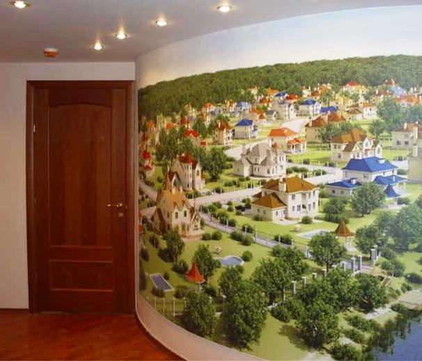 размер рисунка на натяжных стенах
