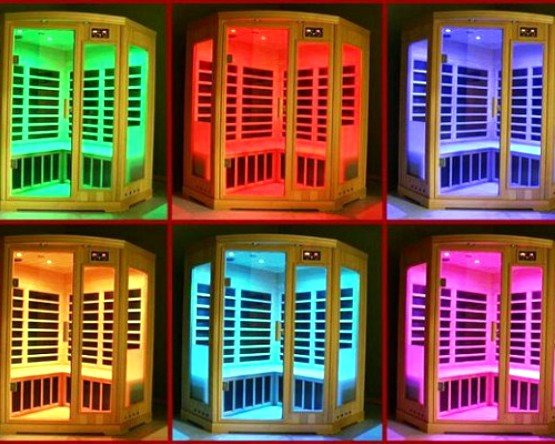 подсветка в квартирной сауне