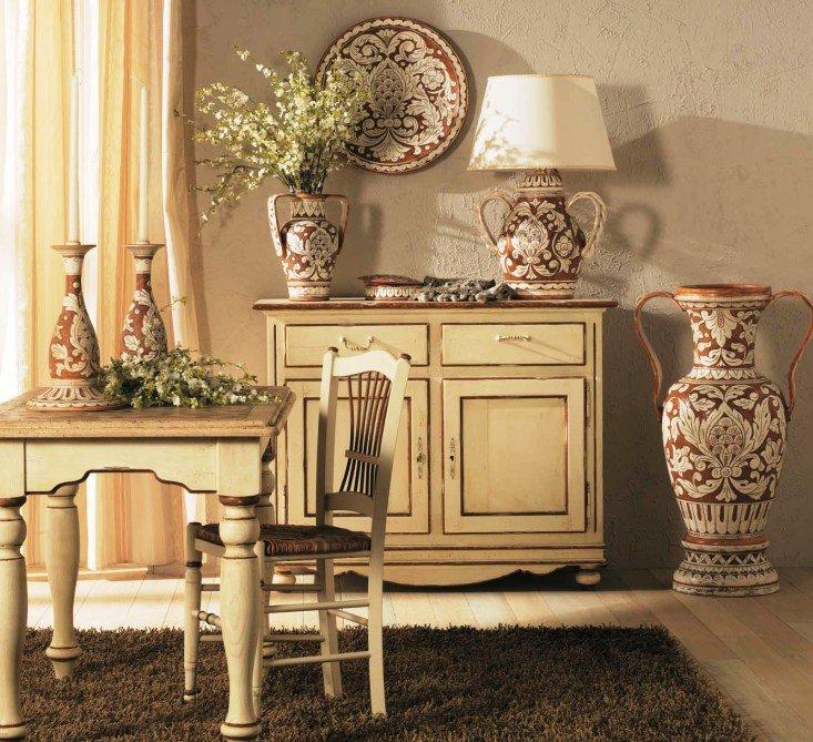 вазы в декорировании интерьера