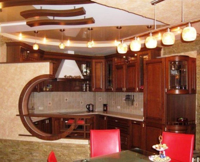 потолок для кухни арт-деко