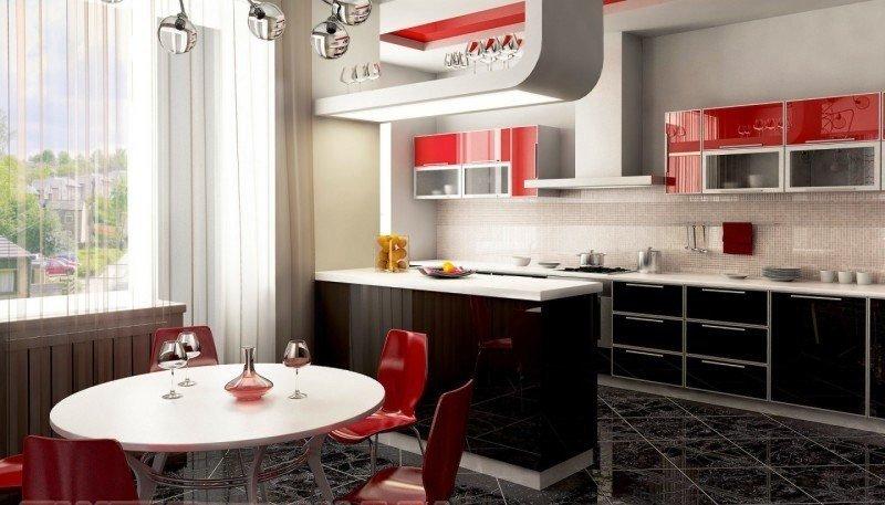 цветовое решение для кухни хай-тек