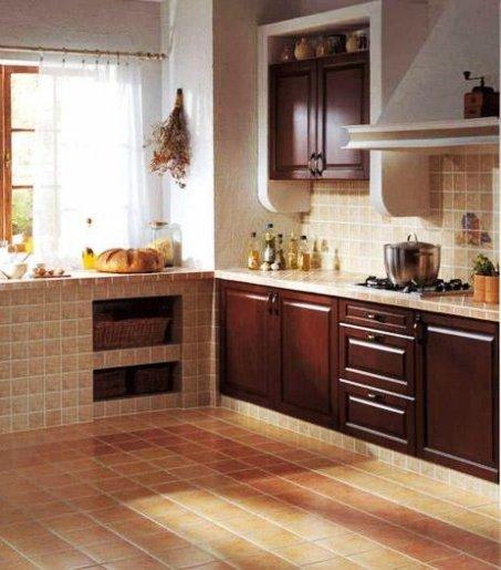 кухня с современной отделкой