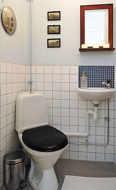 отделка стен туалета