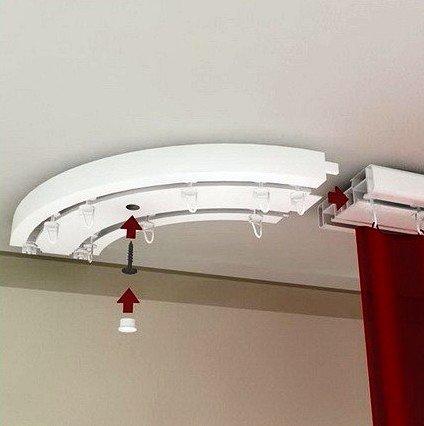 карниз с креплением  на потолок