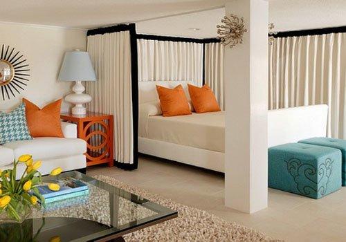 как совместить гостиную и спальню?