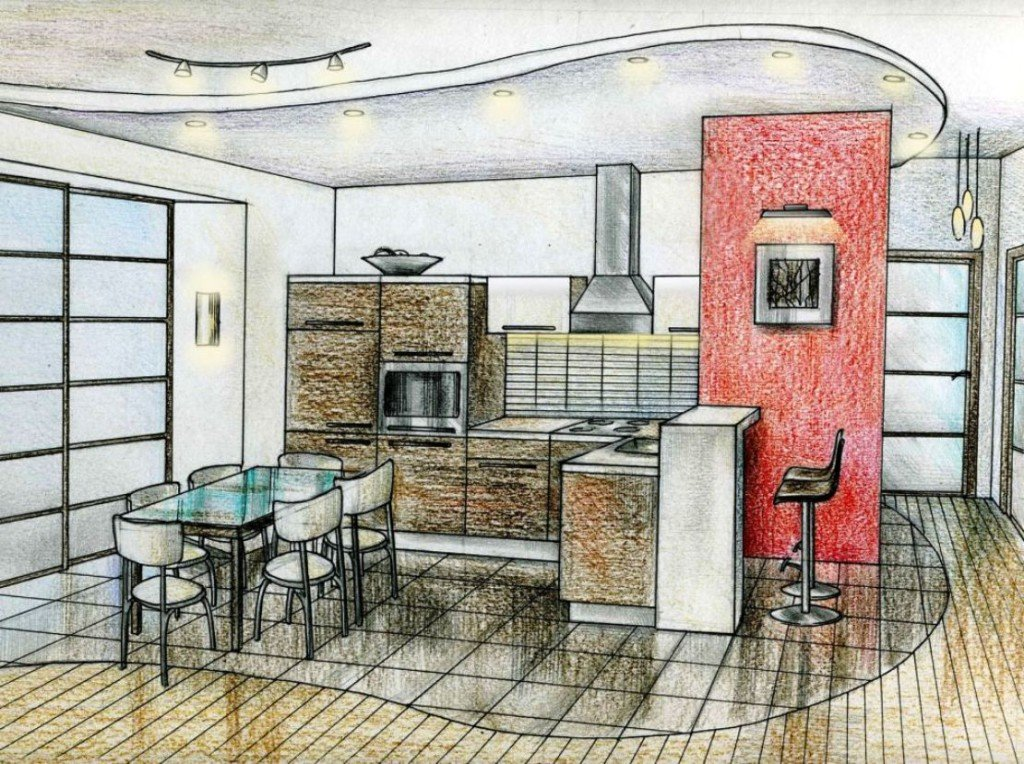 эскиз дизайн проекта квартиры