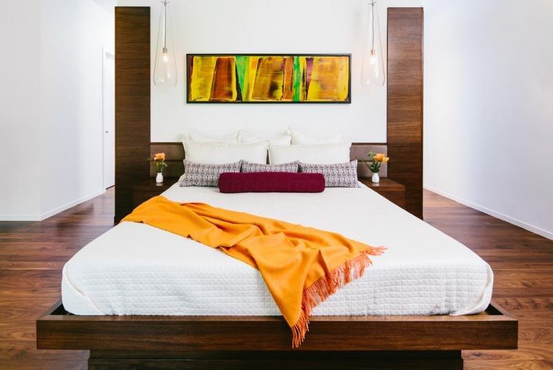 Оживляем спальню энергией апельсина