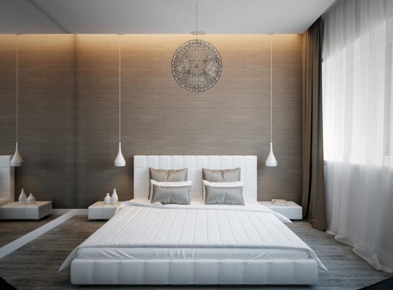 Гармония цвета современной спальни