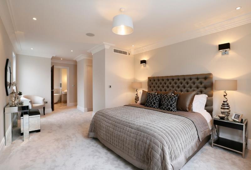 Все типы освещения в современной спальне (Лондон)