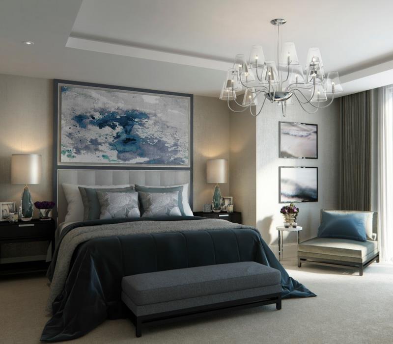 Гармония цвета в современной спальне