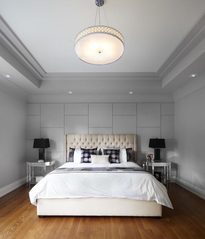 Современная спальня в сером цвете