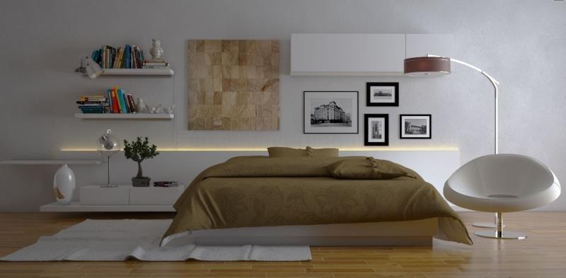 Энергосберегающая подсветка в современной спальне