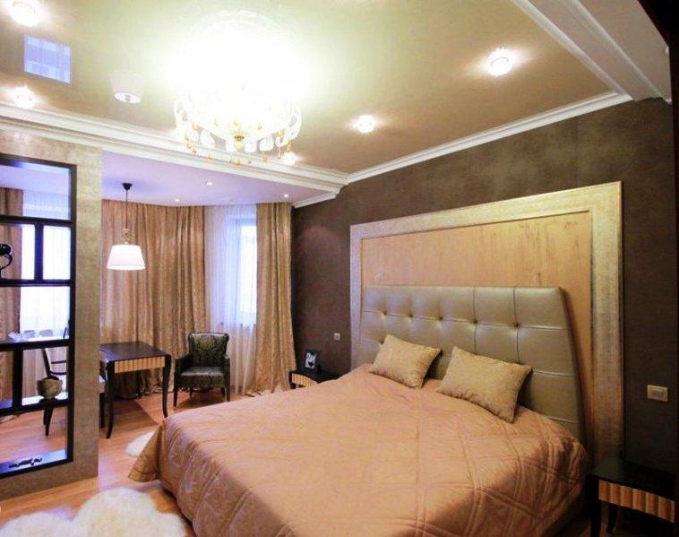 мягкое изголовье кровати - в стиле арт-деко
