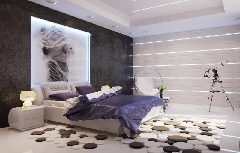 Спальня современного холостяка