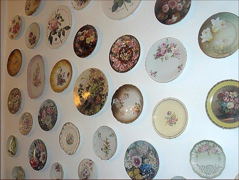 тарелки в качестве декора для стен