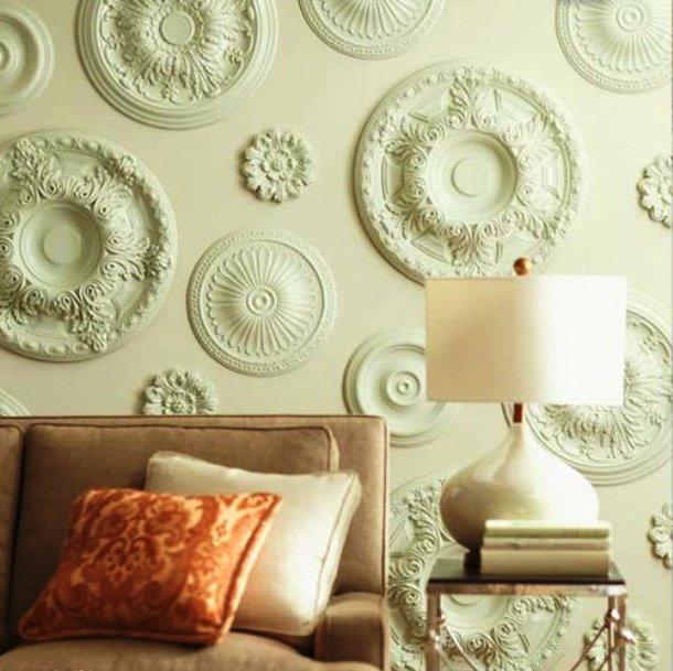 декорирование стен элементами из полиуретана
