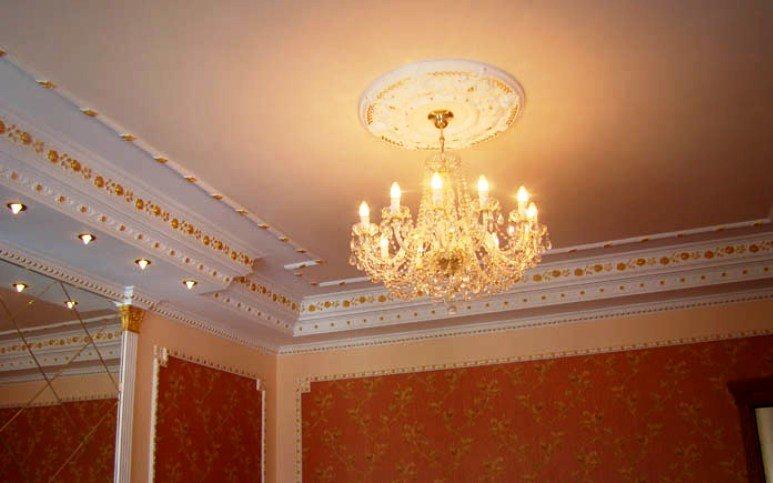 лепнина в декорации потолка