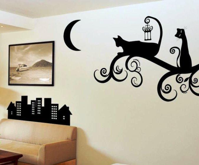 Украсить стены художественными композициями