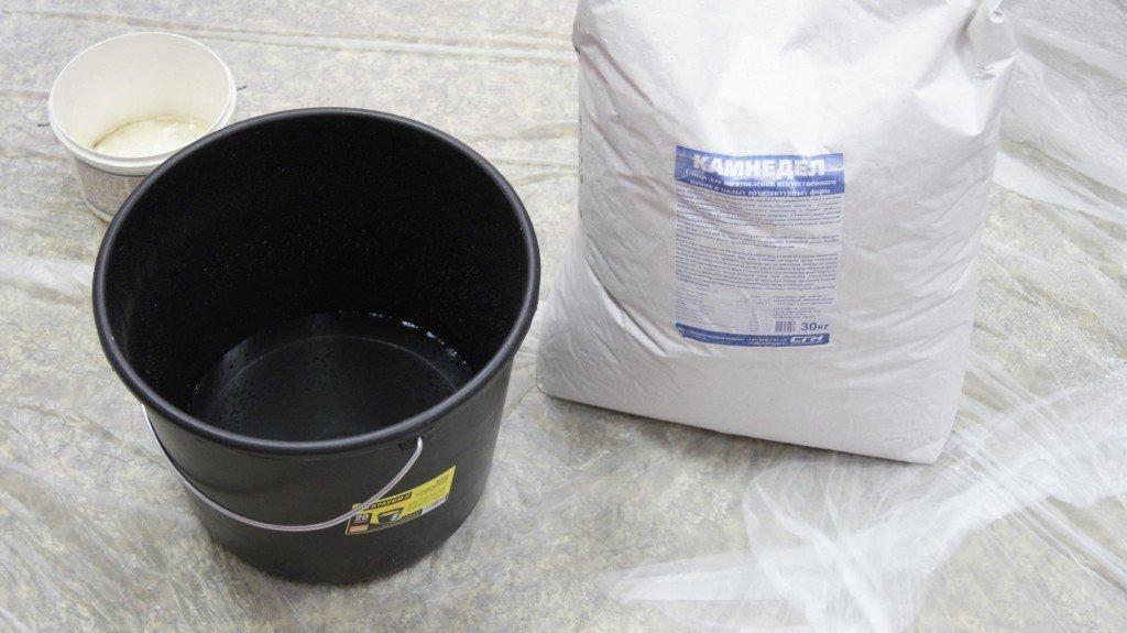 пропорции при изготовлении гипсового камня без стерилизации