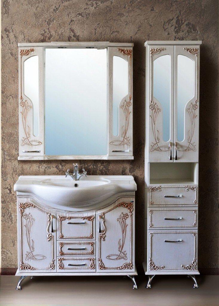 мебель пастельного цвета для ванной