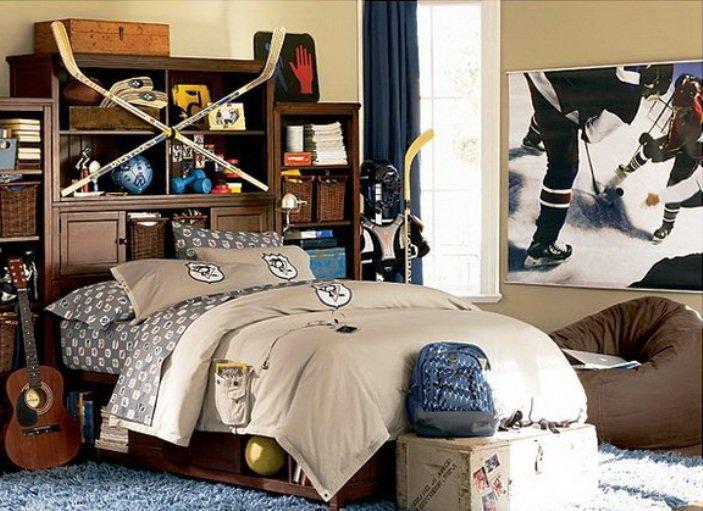 дизайн комнаты подростка в спортивном стиле