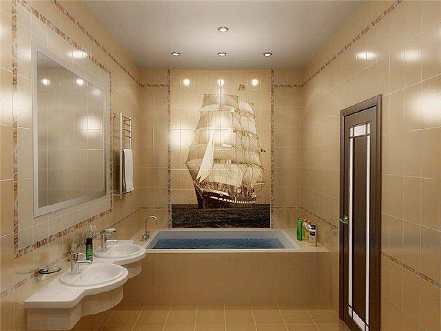 свет в интерьере ванной