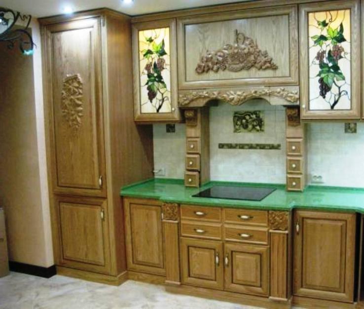 кухонные фасады из древесного массива