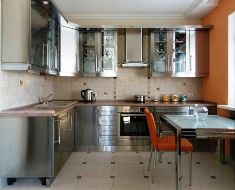 металл на кухне
