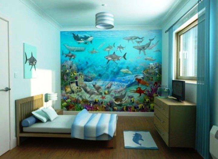 """""""подводный мир"""" в комнате подростка"""