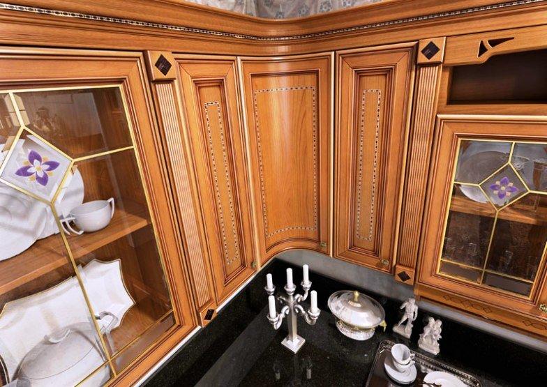 кухонные фасады отделанные шпоном