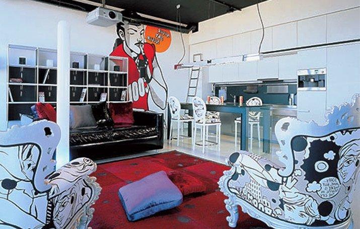 подбор мебели для интерьера в стиле фьюжн