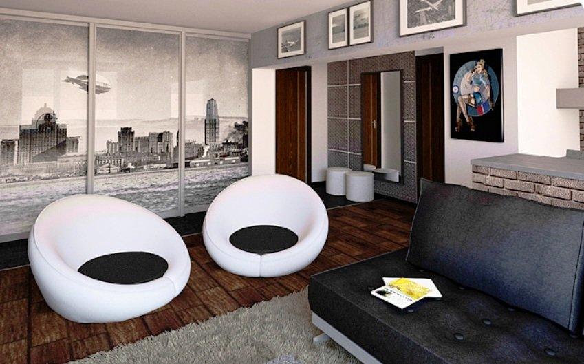 авторские модели мебели в интерьере квартиры