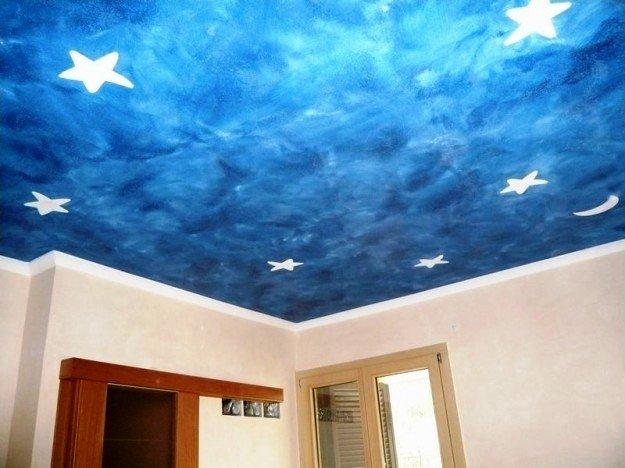 потолок в детской из гипсокартона