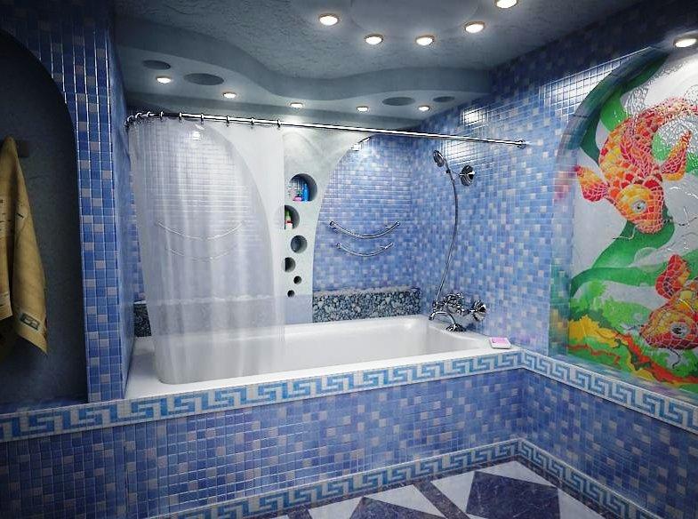 гипсокартонные потолки в ванной