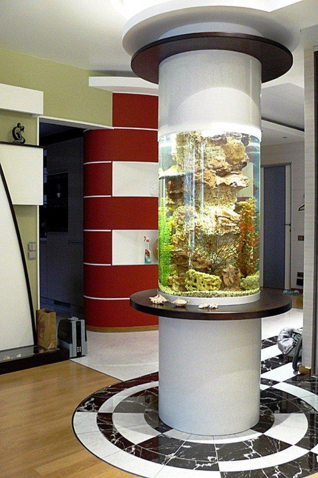аквариум - напольная колонна