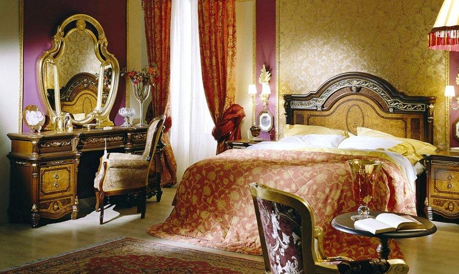 дорогие интерьерные стили спальни