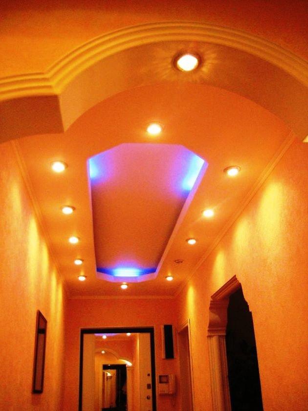 дизайн потолков для коридора