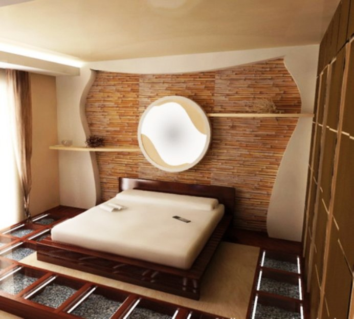 Интерьер минималисткой спальни