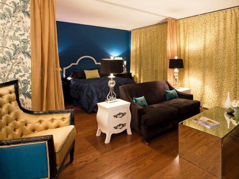 потолочный карниз для разделения спальни и гостиной