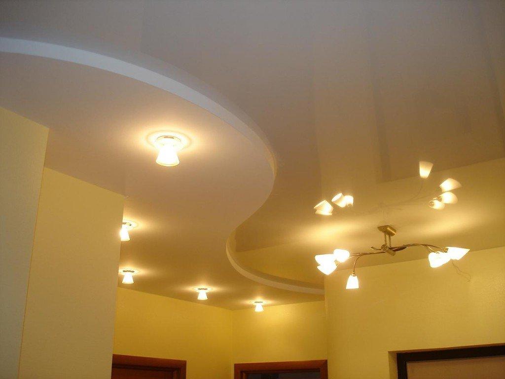 подсветка потолков из гипсокартона