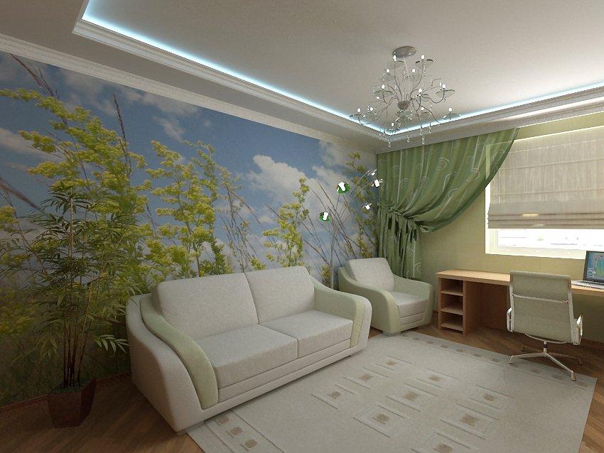 разноцветные рисунки на выделенной стене