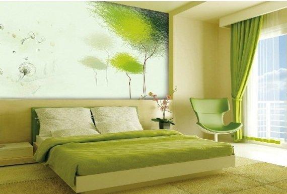 как перекрасить интерьер в зеленый цвет