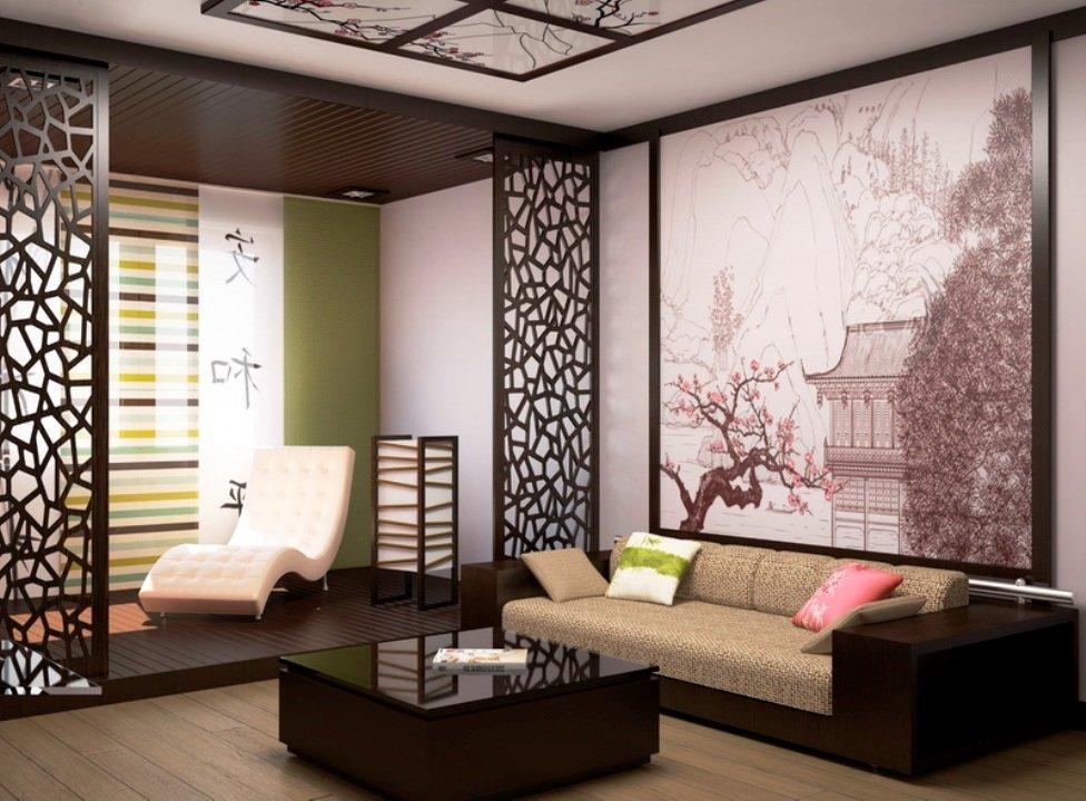 зонирование помещения в китайском стиле