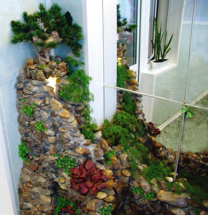 зеркальная стена для зимнего сада