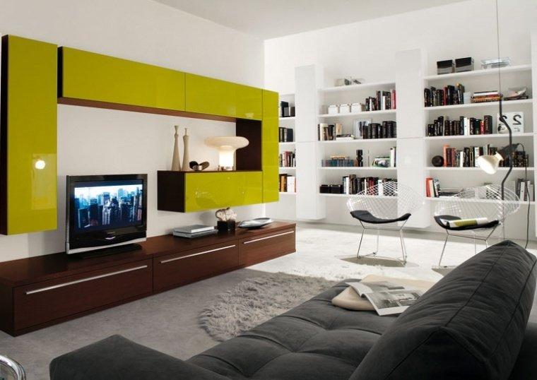 зеленый цвет в современных стилях интерьера