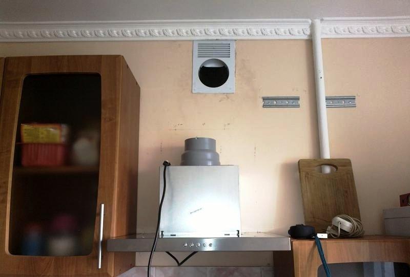 вытяжная конструкция отвода воздуха в вентшахту