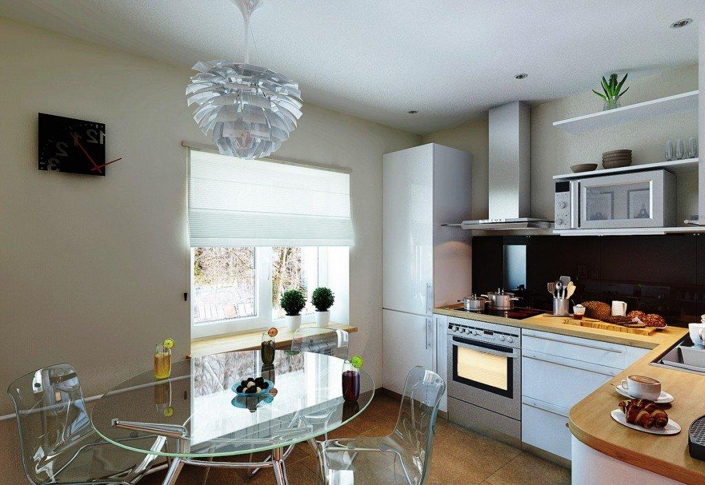 кухонная мебель из прозрачного пластика