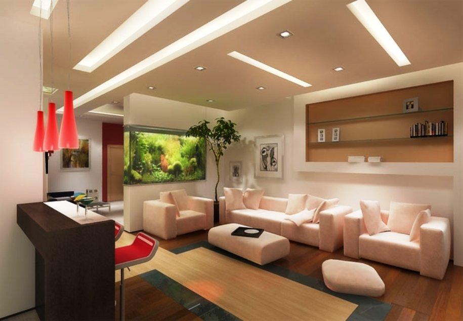 аквариум как элемент дизайна современной гостиной