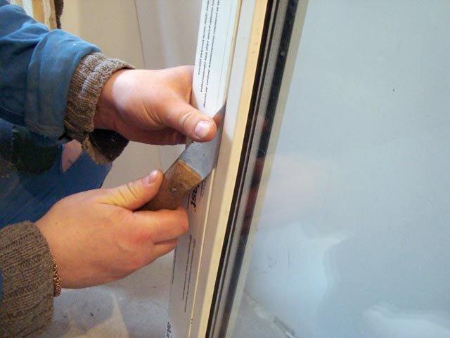 Как снять балконное окно